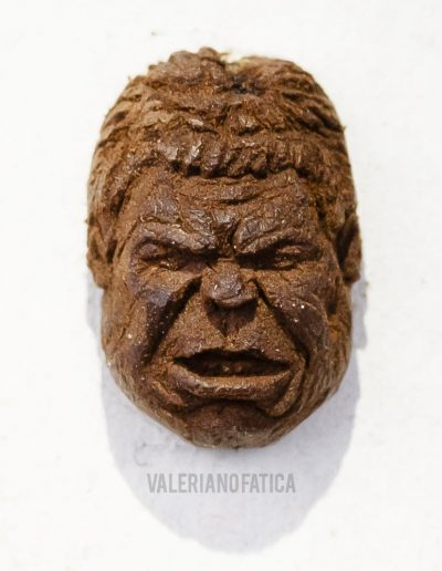 hulk- coffe bean sculpture