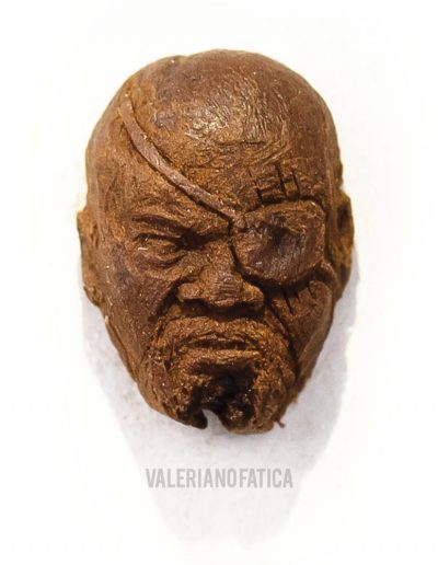 Nick fury - avengers - coffee bean sculpture