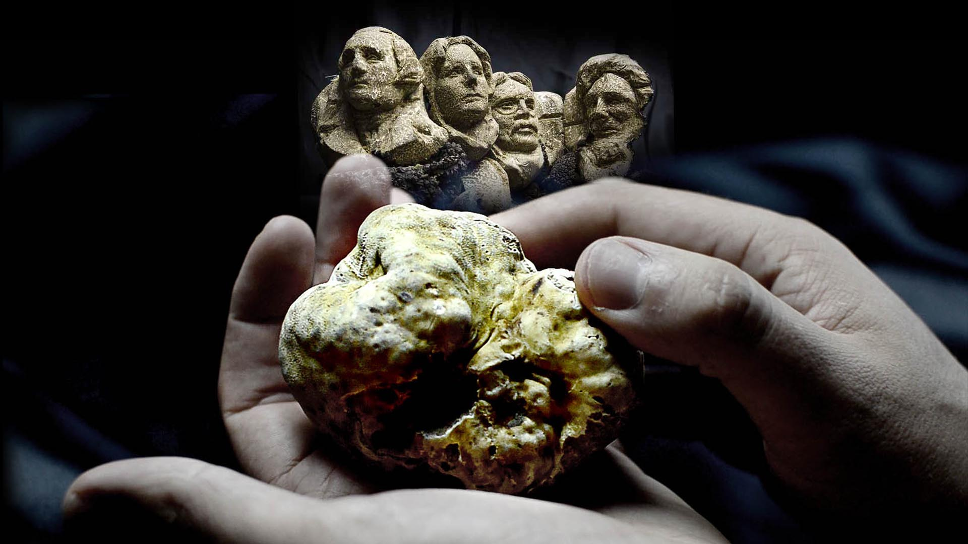 white truffle carving